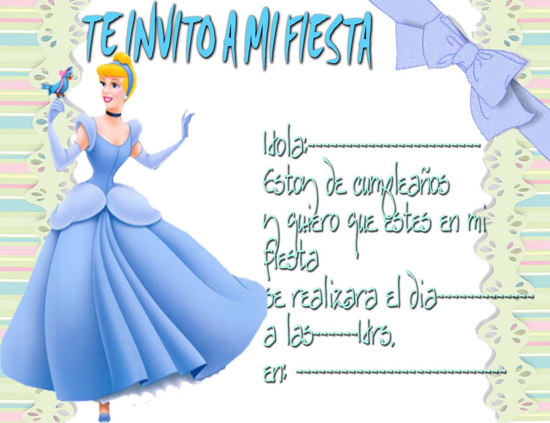 ... invitaciones infantiles de princesas tarjetas de invitacion tarjetas