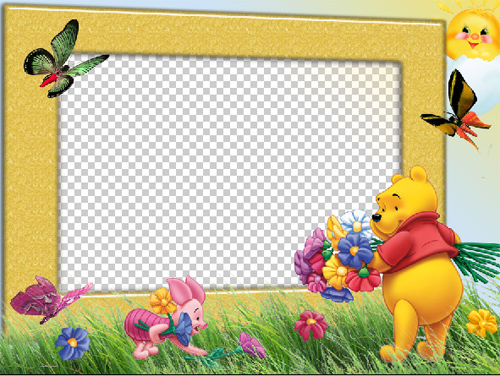Marcos para fotos gratis en alta calidad. Frames Infantiles de Winnie ...