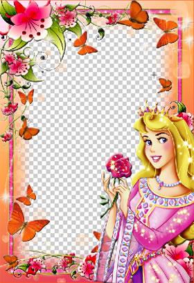 Descargar archivo .psd con los 3 Marcos de Princesas