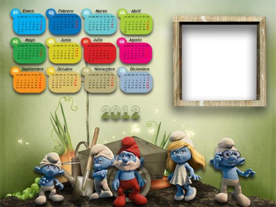 Descargar Calendario Infantil De Los Pitufos Para El A  O 2012