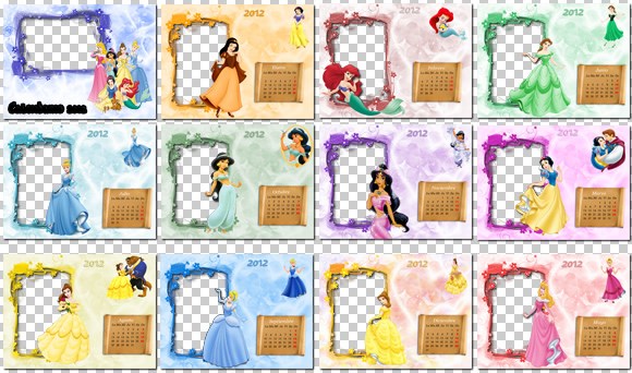 Calendario 2012 para niños, Princesas Disney para cada mes del Año ...