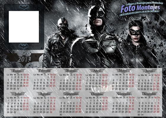 Calendario 2013 Batman. Marco Personalizable