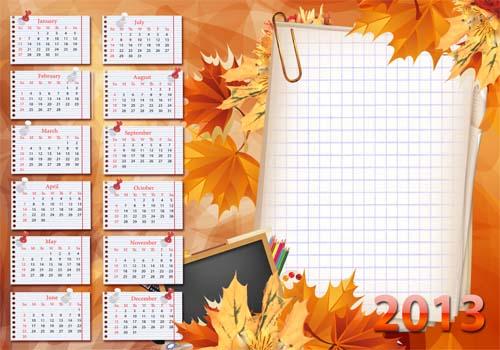 Calendario 2013 En Formato Digital  Marcos Y Frames Para Fotomontajes