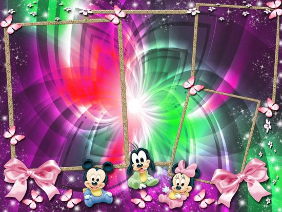 Descarga El Archivo Con El Marcos Baby Disney  Fotomontajes Infantiles