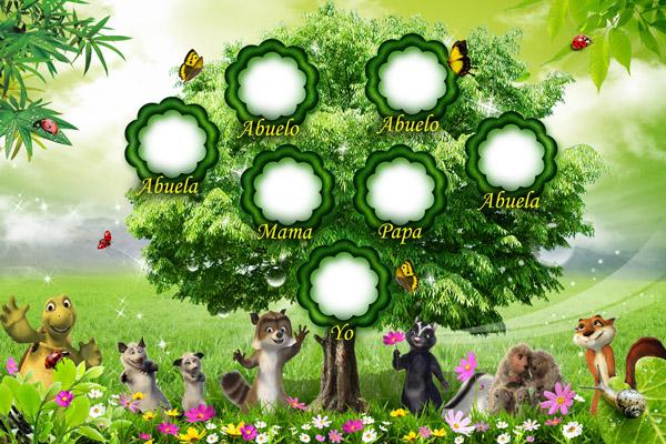 Plantilla Personalizable con Árbol Genealógico